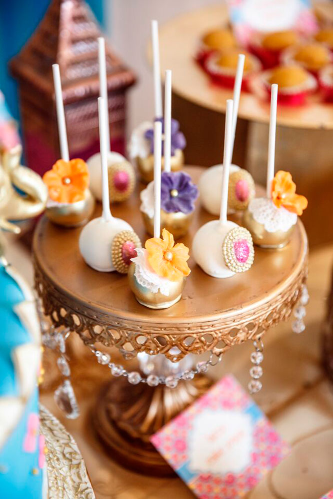 Bollywood Bridal Shower Cake Pops