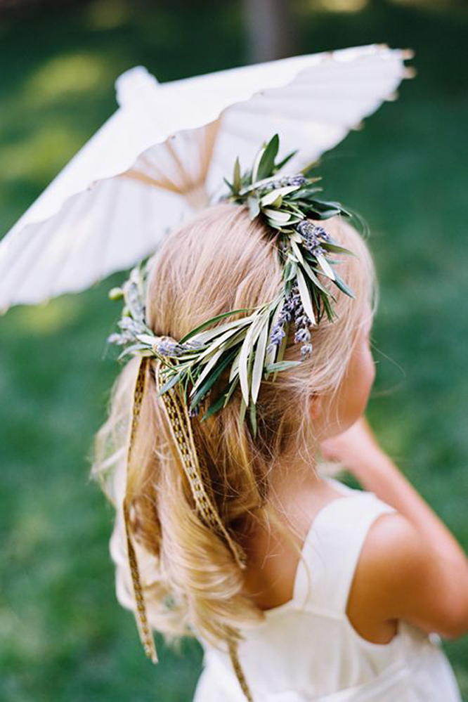 Flower girl parasols